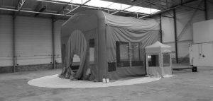 structures gonflables industrielles - Tente gonflable de confinement peinture aéronautique