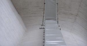 protections de chemin de câble - Protection de chemin de câble en bâche anti UV, anti fongique, ignifugée pour château d'eau, immeubles, usines.