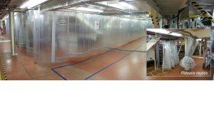 Cloisons de séparation - Rideau coulissant de protection hydraulique