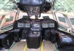 protection PVC aeronautique antistatique cockpit A350 protection des pièces, protection antichoc et antistatique - cockpit A350
