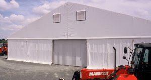 Bâtiments de stockage modulaires metallo textile - 20x65m - technitoile